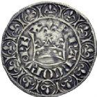 Photo numismatique  ARCHIVES VENTE 2014 -Coll J P Dixméras ROYALES FRANCAISES JEAN II LE BON (22 août 1350-18 avril 1364)  241- Gros blanc à la couronne (26 mars 1357).