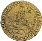 Photo numismatique  ARCHIVES VENTE 2014 -Coll J P Dixméras ROYALES FRANCAISES JEAN II LE BON (22 août 1350-18 avril 1364)  240- Franc d'or à cheval (5 décembre 1360).