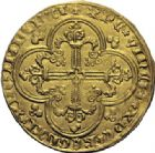 Photo numismatique  ARCHIVES VENTE 2014 -Coll J P Dixméras ROYALES FRANCAISES JEAN II LE BON (22 août 1350-18 avril 1364)  240- Franc d'or à cheval (5 décembre 1360).