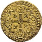 Photo numismatique  ARCHIVES VENTE 2014 -Coll J P Dixméras ROYALES FRANCAISES JEAN II LE BON (22 août 1350-18 avril 1364)  239- Mouton d'or (17 janvier 1355).