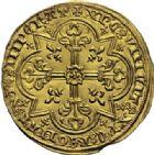 Photo numismatique  ARCHIVES VENTE 2014 -Coll J P Dixméras ROYALES FRANCAISES JEAN II LE BON (22 août 1350-18 avril 1364)  238- Mouton d'or (17 janvier 1355).