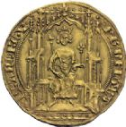Photo numismatique  ARCHIVES VENTE 2014 -Coll J P Dixméras ROYALES FRANCAISES PHILIPPE VI DE VALOIS(1er avril 1328-22 août 1350)  233- Double d'or de la 1ère émission (6 avril 1340).