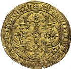 Photo numismatique  ARCHIVES VENTE 2014 -Coll J P Dixméras ROYALES FRANCAISES PHILIPPE VI DE VALOIS(1er avril 1328-22 août 1350)  232- Pavillon d'or (8 juin 1339).