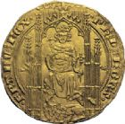 Photo numismatique  ARCHIVES VENTE 2014 -Coll J P Dixméras ROYALES FRANCAISES PHILIPPE VI DE VALOIS(1er avril 1328-22 août 1350)  231- Lion d'or (31 octobre 1338).