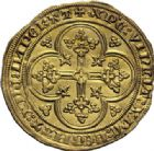 Photo numismatique  ARCHIVES VENTE 2014 -Coll J P Dixméras ROYALES FRANCAISES PHILIPPE VI DE VALOIS(1er avril 1328-22 août 1350)  229- Ecu d'or à la chaise de la 1ère émission (1er janvier 1337).