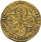 Photo numismatique  ARCHIVES VENTE 2014 -Coll J P Dixméras ROYALES FRANCAISES CHARLES IV LE BEL (3 janvier 1322–1er février 1328)  227- Royal d'or (16 février 1326).