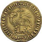 Photo numismatique  ARCHIVES VENTE 2014 -Coll J P Dixméras ROYALES FRANCAISES PHILIPPE IV LE BEL (5 octobre 1285-30 novembre 1314)  219- Agnel d'or (26 janvier 1311).