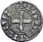 Photo numismatique  ARCHIVES VENTE 2014 -Coll J P Dixméras ROYALES FRANCAISES LOUIS VII (1er août 1137-18 septembre 1180)  214- Denier du 3ème type, Paris.