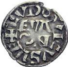 Photo numismatique  ARCHIVES VENTE 2014 -Coll J P Dixméras ROYALES FRANCAISES LOUIS VII (1er août 1137-18 septembre 1180)  213- Deniers, Orléans (2), Paris (3).