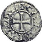 Photo numismatique  ARCHIVES VENTE 2014 -Coll J P Dixméras CAROLINGIENS RAOUL (13 juillet 923-janvier 936)  207- Denier postérieur de Château-Landon.