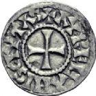 Photo numismatique  ARCHIVES VENTE 2014 -Coll J P Dixméras CAROLINGIENS RAOUL (13 juillet 923-janvier 936)  204- Denier contemporain d'Orléans.