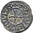 Photo numismatique  ARCHIVES VENTE 2014 -Coll J P Dixméras CAROLINGIENS LOUIS II (877-879) ou LOUIS III (879-882)  201- Obole de Tours.