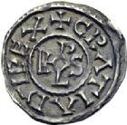 Photo numismatique  ARCHIVES VENTE 2014 -Coll J P Dixméras CAROLINGIENS CHARLES LE CHAUVE, roi (840-875) - empereur (jour de Noël 875-6 octobre 877)  200- Denier du monastère de Saint-Denis après 864.