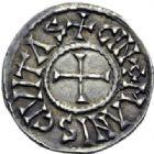 Photo numismatique  ARCHIVES VENTE 2014 -Coll J P Dixméras CAROLINGIENS CHARLES LE CHAUVE, roi (840-875) - empereur (jour de Noël 875-6 octobre 877)  197- Denier du Mans, après 864.