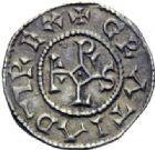 Photo numismatique  ARCHIVES VENTE 2014 -Coll J P Dixméras CAROLINGIENS CHARLES LE CHAUVE, roi (840-875) - empereur (jour de Noël 875-6 octobre 877)  196- Denier de Laon, après 864.