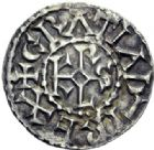 Photo numismatique  ARCHIVES VENTE 2014 -Coll J P Dixméras CAROLINGIENS CHARLES LE CHAUVE, roi (840-875) - empereur (jour de Noël 875-6 octobre 877)  194- Denier d'Angers, après 864.