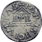 Photo numismatique  ARCHIVES VENTE 2014 -Coll J P Dixméras CAROLINGIENS CHARLES LE CHAUVE, roi (840-875) - empereur (jour de Noël 875-6 octobre 877)  189- Denier de Paris, 840-864.