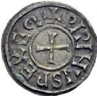 Photo numismatique  ARCHIVES VENTE 2014 -Coll J P Dixméras CAROLINGIENS PEPIN II, roi d'Aquitaine (839-852)  187- Denier de Melle.