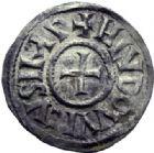 Photo numismatique  ARCHIVES VENTE 2014 -Coll J P Dixméras CAROLINGIENS LOUIS LE PIEUX, empereur (janvier 814-20 juin 840)  185- Denier de Melle.