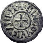Photo numismatique  ARCHIVES VENTE 2014 -Coll J P Dixméras CAROLINGIENS LOUIS LE PIEUX, empereur (janvier 814-20 juin 840)  184- Denier de Melle à partir de 818.