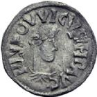 Photo numismatique  ARCHIVES VENTE 2014 -Coll J P Dixméras CAROLINGIENS LOUIS LE PIEUX, empereur (janvier 814-20 juin 840)  182- Denier de Melle, 814-819.