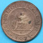 Photo numismatique  MONNAIES MONNAIES DU MONDE INDOCHINE 3e République (1871-1940) 1 centième de piastre de 1887.