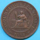 Photo numismatique  MONNAIES MONNAIES DU MONDE INDOCHINE 3e République (1871-1940) 1 centième de piastre de 1888.