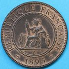 Photo numismatique  MONNAIES MONNAIES DU MONDE INDOCHINE 3e République (1871-1940) 1 centième de piastre de 1893.