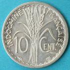Photo numismatique  MONNAIES MONNAIES DU MONDE INDOCHINE Gouvernement Provisoire (1944-1947) 10 centimes de 1945.
