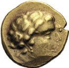 Photo numismatique  ARCHIVES VENTE 2014 -Coll J P Dixméras GAULE - CELTES AULERQUES CENOMANS (région de la Sarthe)  86- Statère d'or (2ème siècle avant J.C.).