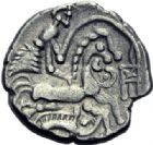 Photo numismatique  ARCHIVES VENTE 2014 -Coll J P Dixméras IBERIE- GAULE - CELTES BAÏOCASSES (région de Bayeux)  85- Statère d'argent.