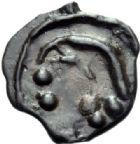 Photo numismatique  ARCHIVES VENTE 2014 -Coll J P Dixméras GAULE - CELTES SEQUANES (région de Besançon)  78- Potin avec O.