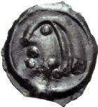 Photo numismatique  ARCHIVES VENTE 2014 -Coll J P Dixméras IBERIE- GAULE - CELTES SEQUANES (région de Besançon)  77- Potin avec TO.