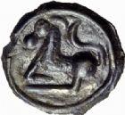 Photo numismatique  ARCHIVES VENTE 2014 -Coll J P Dixméras GAULE - CELTES SEQUANES (région de Besançon)  74- Potin à la grosse tête et à la couronne de laurier.