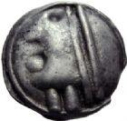 Photo numismatique  ARCHIVES VENTE 2014 -Coll J P Dixméras IBERIE- GAULE - CELTES SEQUANES (région de Besançon)  72- Potin à la grosse tête (vers 100 avant J.C.).