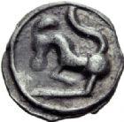 Photo numismatique  ARCHIVES VENTE 2014 -Coll J P Dixméras GAULE - CELTES SEQUANES (région de Besançon)  72- Potin à la grosse tête (vers 100 avant J.C.).