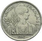 Photo numismatique  MONNAIES MONNAIES DU MONDE INDOCHINE Gouvernement Provisoire (1944-1947) 1 piastre de 1947.