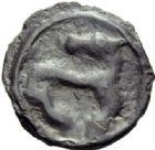 Photo numismatique  ARCHIVES VENTE 2014 -Coll J P Dixméras GAULE - CELTES EDUENS (région de la Bourgogne)  69- Potin au cheval tournant la tête (2ème tiers du 1er siècle-période post-césarienne).