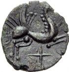 Photo numismatique  ARCHIVES VENTE 2014 -Coll J P Dixméras IBERIE- GAULE - CELTES CARNUTES-TURONES (Région de Chartres-Tours)  63- Bronze.