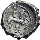 Photo numismatique  ARCHIVES VENTE 2014 -Coll J P Dixméras GAULE - CELTES BITURIGES CUBI (région de Bourges)  50- Drachme (fin du 1er siècle avant J.C.).