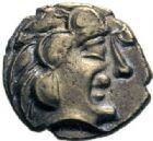 Photo numismatique  ARCHIVES VENTE 2014 -Coll J P Dixméras IBERIE- GAULE - CELTES PICTONES-SANTONES (Poitou-Charentes)  48- 1/4 de statère d'électrum (1ère moitié du 1er siècle avant J.C.).