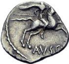 Photo numismatique  ARCHIVES VENTE 2014 -Coll J P Dixméras GAULE - CELTES VOCONCES (Sud des Alpes françaises)  47- Denier de [Durnacos] / Avscrocvs.