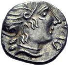 Photo numismatique  ARCHIVES VENTE 2014 -Coll J P Dixméras IBERIE- GAULE - CELTES VOCONCES (Sud des Alpes françaises)  46- Denier de Durnacos / [Avscrocvs].