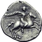 Photo numismatique  ARCHIVES VENTE 2014 -Coll J P Dixméras IBERIE- GAULE - CELTES VOCONCES (Sud des Alpes françaises)  45- Denier de Durnacos / [Avscrocvs].