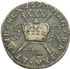 Photo numismatique  MONNAIES MONNAIES DU MONDE IRLANDE JAMES II (1685-1688) Demi couronne de avril 1690.
