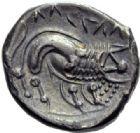 Photo numismatique  ARCHIVES VENTE 2014 -Coll J P Dixméras GAULE - CELTES GAULE CISALPINE (Vallée du Pô)  41- Drachme, imitation des monnaies de Marseille.
