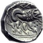 Photo numismatique  ARCHIVES VENTE 2014 -Coll J P Dixméras GAULE - CELTES GAULE CISALPINE (Vallée du Pô)  40-  Drachme de poids lourd, imitation des monnaies de Marseille.