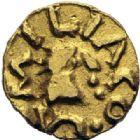 Photo numismatique  ARCHIVES VENTE 2014 -Coll J P Dixméras PEUPLES BARBARES MEROVINGIENS CITES CHEMILLE (Maine-et-Loire) 29- Tremissis.