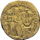 Photo numismatique  ARCHIVES VENTE 2014 -Coll J P Dixméras EMPIRE BYZANTIN HERACLIUS et HERACLIUS CONSTANTIN (613-638)  26- Lot de 2 monnaies. Solidus, et antoninien d'Otacilie.
