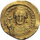 Photo numismatique  ARCHIVES VENTE 2014 -Coll J P Dixméras EMPIRE BYZANTIN JUSTINIEN Ier (527-565)  24- Solidus, Constantinople.